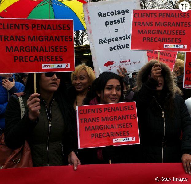 Manifstation de travailleur.ses du contre le projet de loi de pénalisation des clients, 29 novembre 2013, Paris.