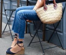 8 idées pour porter les espadrilles compensées en ville