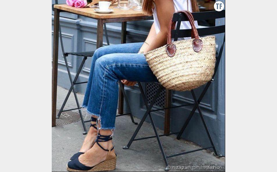 Les espadrilles compensées, chaussures tendance du printemps/été