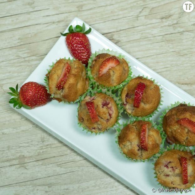Recette des muffins bananes-fraises