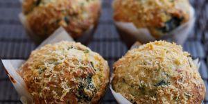 La recette des muffins aux épinards et parmesan