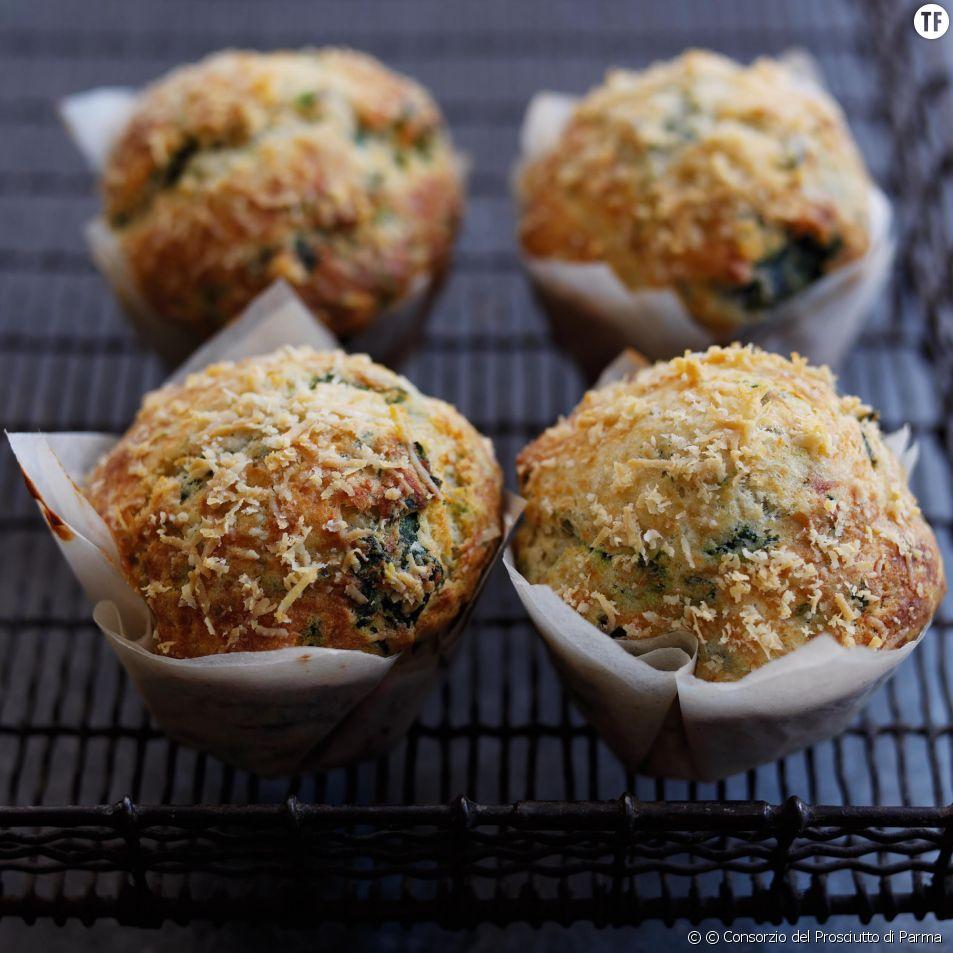 Recette des muffins aux épinards et parmesan