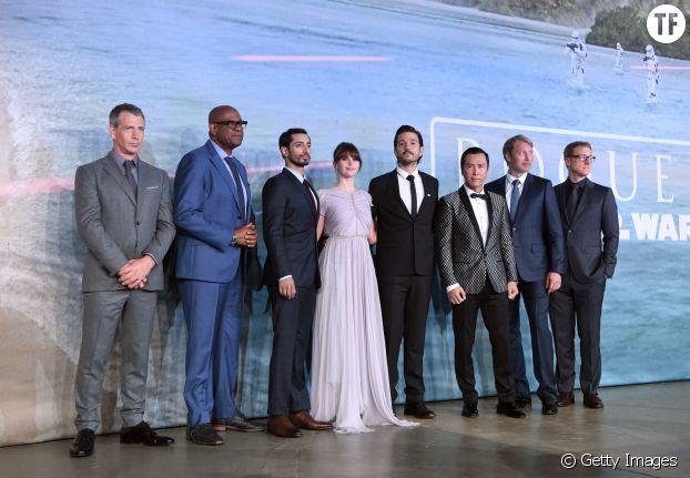 Le casting de Rogue One à l'avant-première du film à Londres en 2016