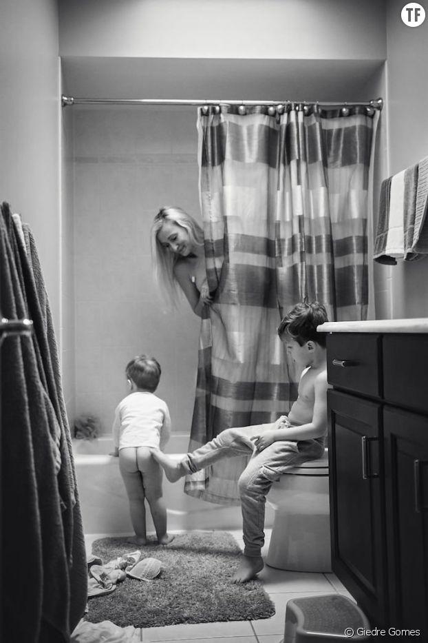 """""""Quand on est maman, on ne peut jamais se doucher en paix"""""""
