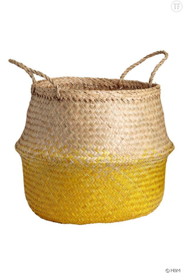 Un panier jaune H&M