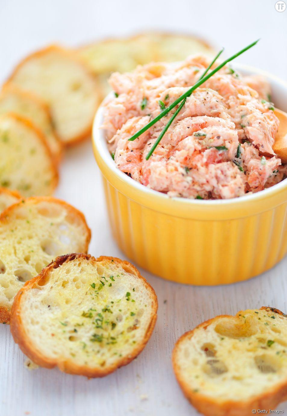 La recette de la tartinade au saumon fumé