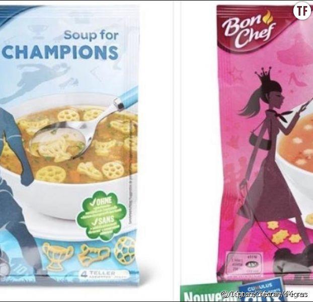 Des supermarchés suisses font un tollé avec des soupes filles-garçons