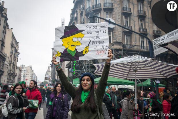 8 août 2018, Buenos Aires. Militante pour le droit à l'avortement en Argetine.