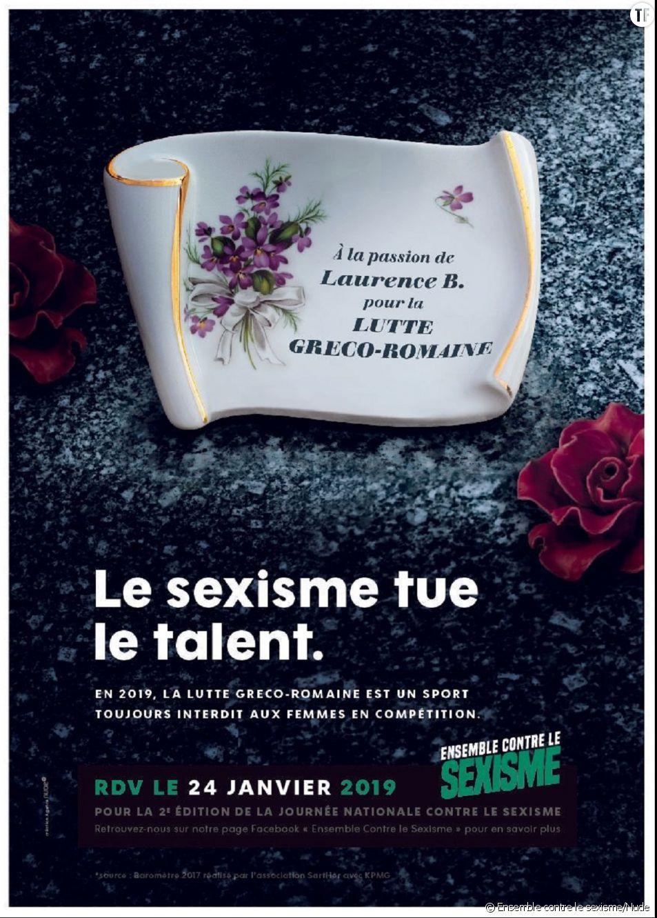 Une affiche de la campagne d'Ensemble contre le sexisme