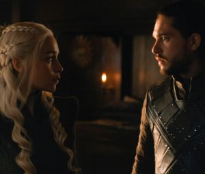 Daenerys et Jon Snow dans Game of Thrones