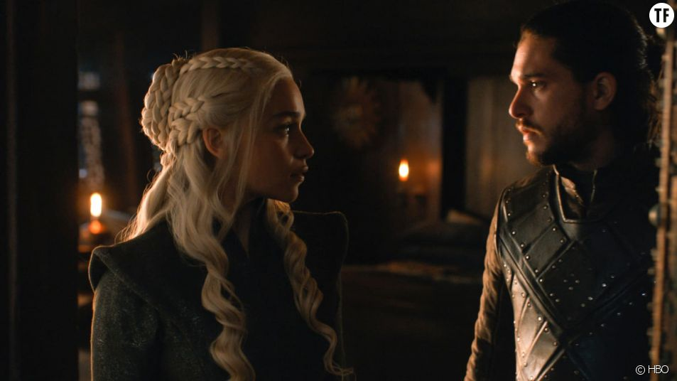 Daenerys et Jon Snow dans Game of Thrones