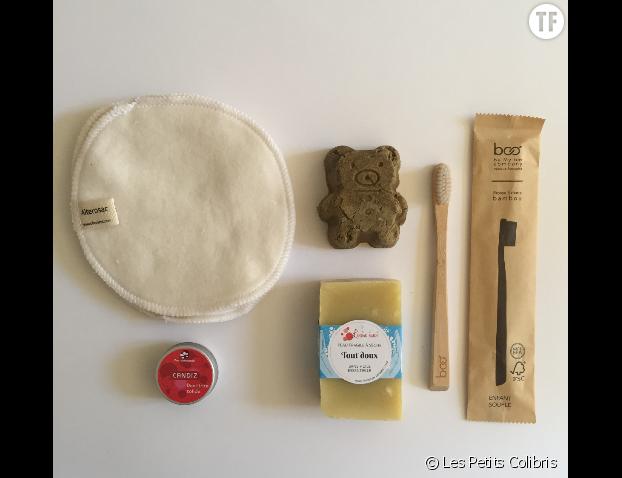 La box découverte hygiène zéro déchet enfants Les Petits Colibris