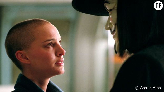 "Nathalie Portman dans ""V pour Vendetta""."