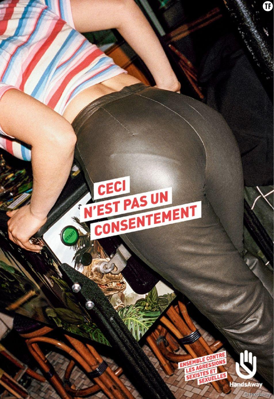 """La campagne """"Ceci n'est pas un consentement"""" de Handsaway."""
