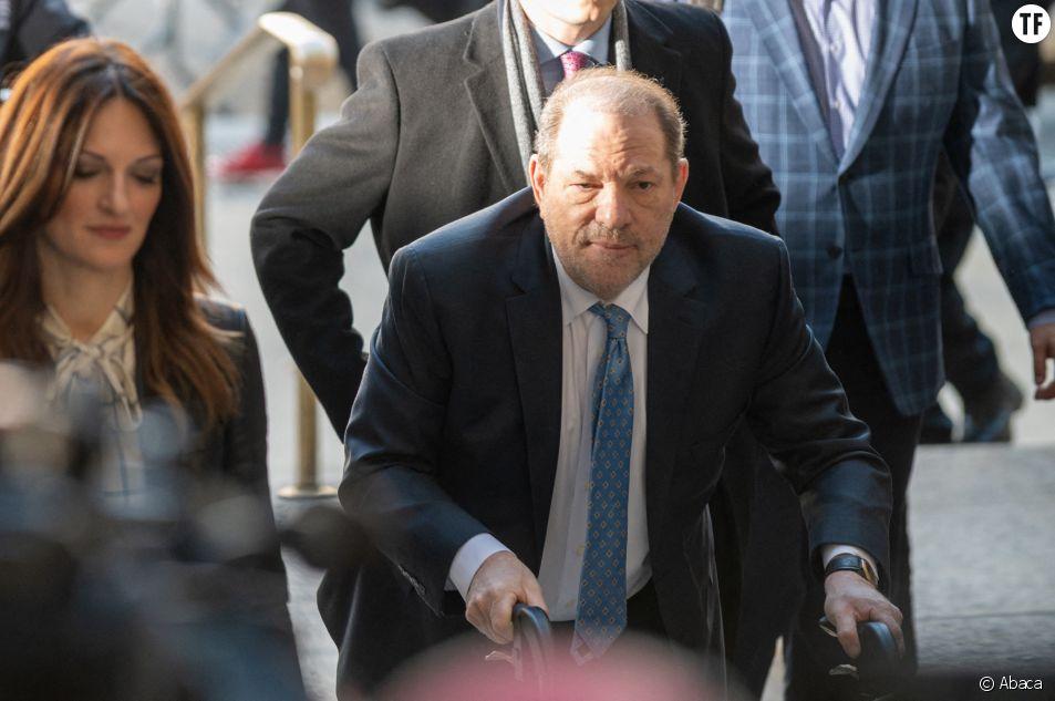 Harvey Weinstein le 24 février 2020 lors de son procès à New York