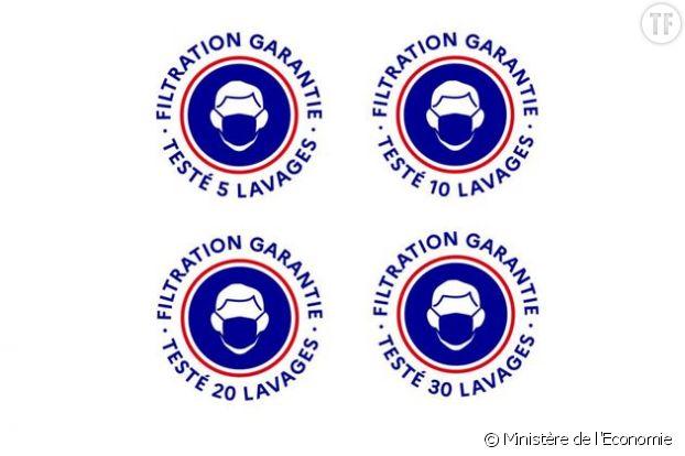 Ce logo du gouvernement doit figurer sur les conditionnements des masques grand public.