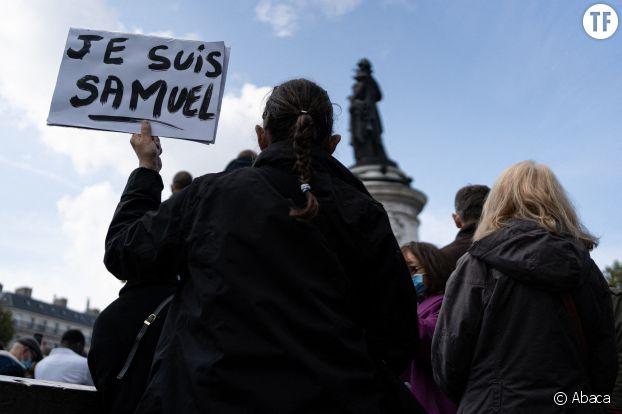 L'hommage à Samuel Paty place de la République, à Paris