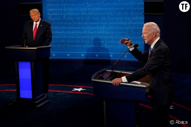 Donald Trump et Joe Biden lors du dernier débat le 22 octobre 2020