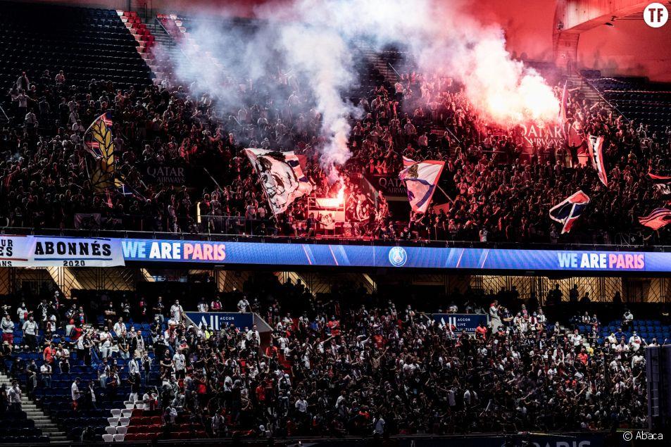 Supporters su Paris Saint-Germain le 23 août 2020 lors du match PSG-Bayern de Munich/photo d'illustration.
