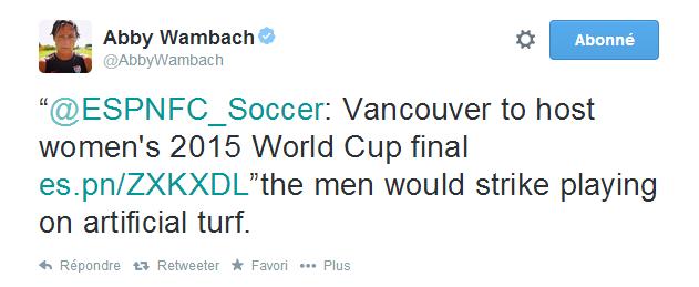 Tweet Abby Wambach