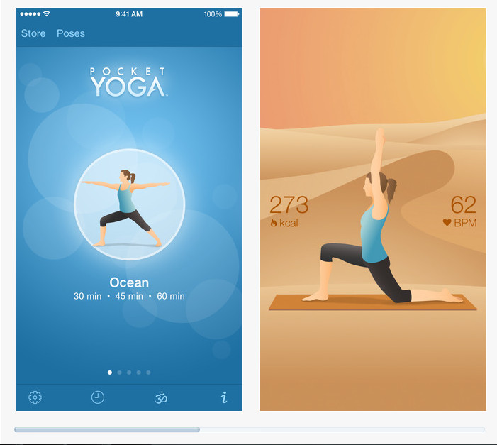 Pocket Yoga : capture App Store