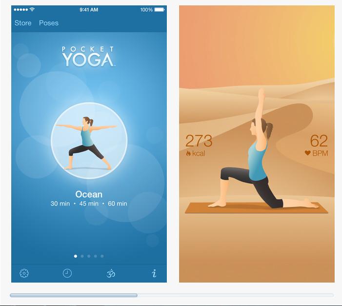 Pocket Yoga : capture App Store