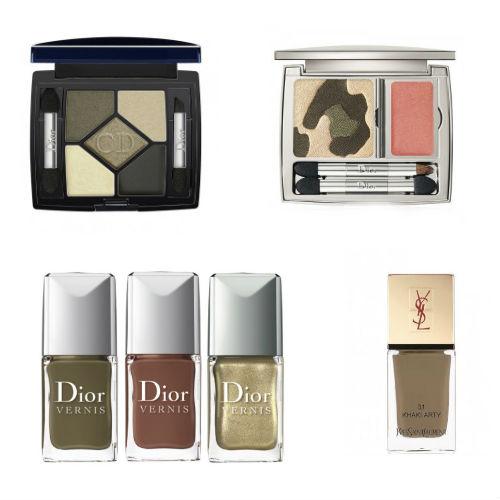 Tendance maquillage automne 2012 : le kaki et le doré à l'honneur