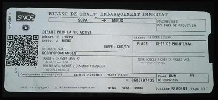 Le CV billet de train