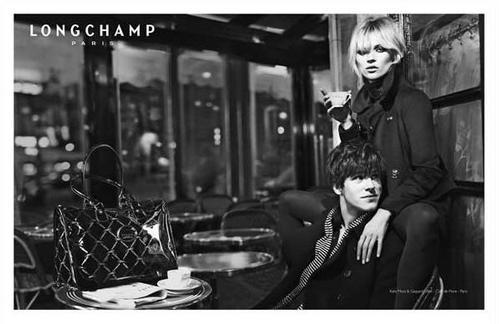 Longchamp Kate Moss Gaspard Ulliel