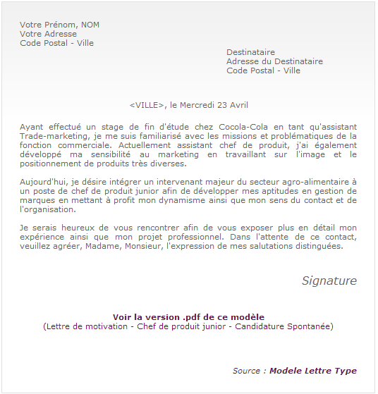 lettre de motivation rayon multimedia