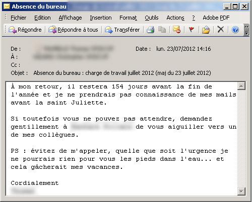 Mails D Absence Les Meilleurs Messages Automatiques Pendant Les