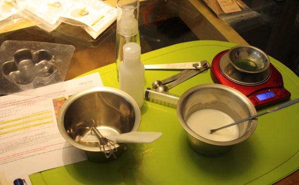 faire un savon exfoliant maison